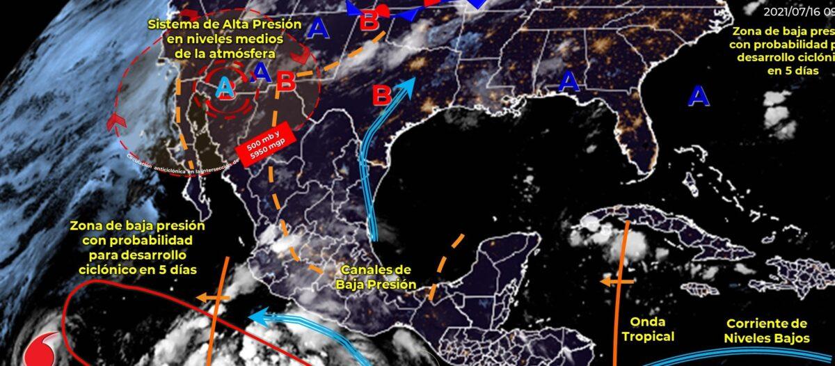 Pronóstico del clima para hoy viernes 16 de julio en Quintana Roo.