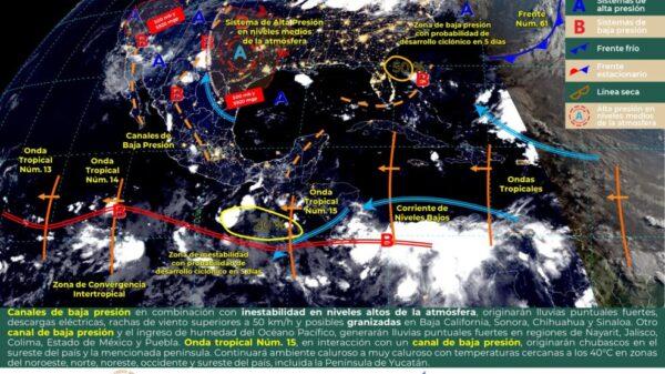 Pronóstico del tiempo para hoy domingo 25 de julio en Quintana Roo.