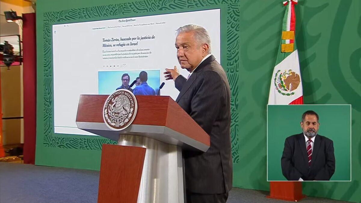 Confía AMLO en que el Gobierno de Israel actúe conforme a los derechos humanos, ya que, entre otras cosas, el director de la Agencia de Investigación Criminal en el Gobierno de Enrique Peña Nieto es señalado por tortura.