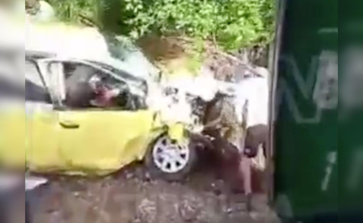 Video: Aparatoso accidente en vía Cancún-Leona Vicario deja varios lesionados