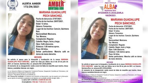 Emiten alerta por desaparición de niña de 12 años en Villas del Mar