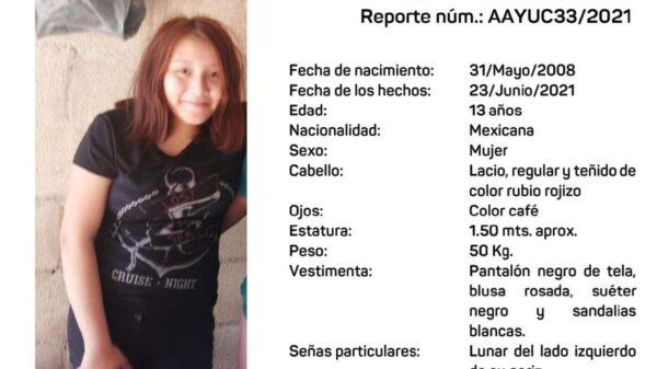 Activan la Alerta Amber Yucatán para dar con el paradero de menor de 13 años