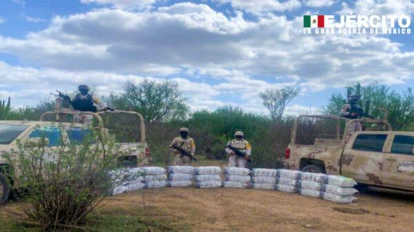 Asegura la Sedena más de 400 kilos de metanfetamina, en Sonora