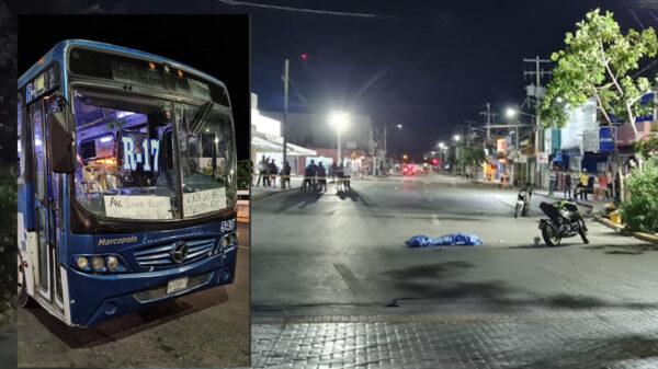 Cancún: camión de Autocar arrolla a pareja de motociclistas, uno muere