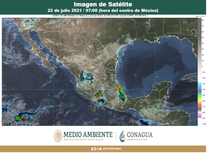 Pronóstico del clima para hoy jueves 22 de julio en Quintana Roo; continuarán las altas temperaturas y sin probabilidad de lluvias en la Península.