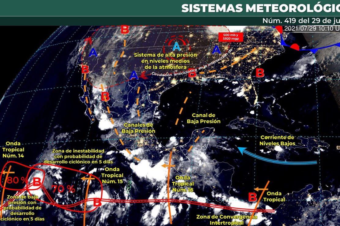 Pronóstico del clima para hoy jueves 29 de julio en Quintana Roo