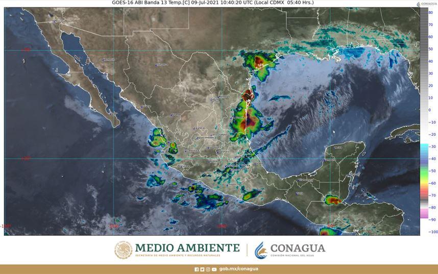 Pronóstico del clima para hoy 9 de julio en Quintana Roo; condiciones de cielo parcialmente nublado para los estados de la Península.