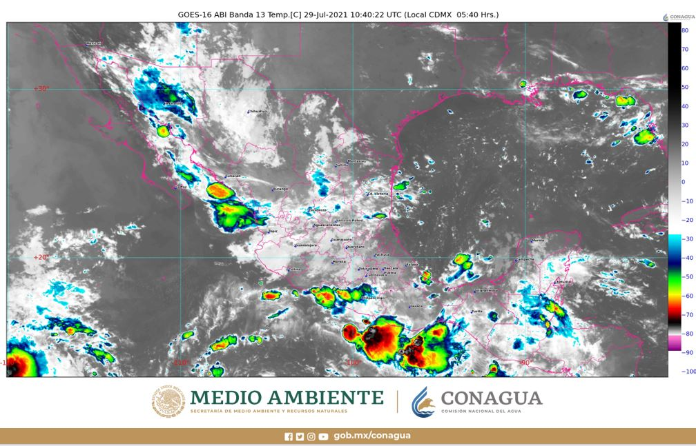Pronóstico del clima para hoy jueves 29 de julio en Quintana Roo; Se prevén para la entidad chubascos aislados y altas temperaturas.