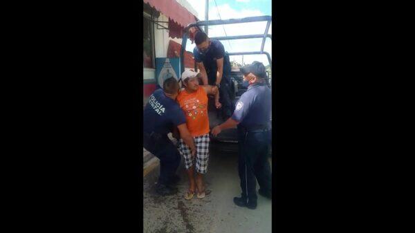 En José María Morelos comienzan las detenciones por no usar cubrebocas (VIDEO).
