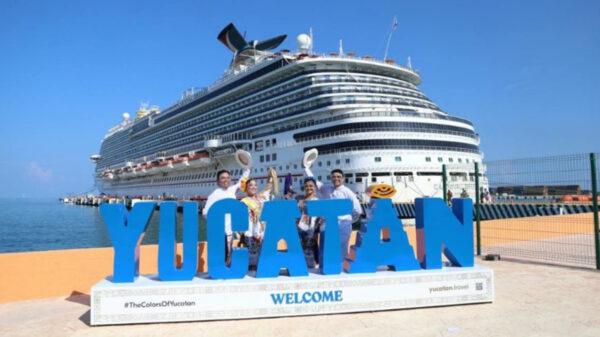 ¡Por fin! Llega a Yucatán después de 16 meses, el crucero Carnival Breeze