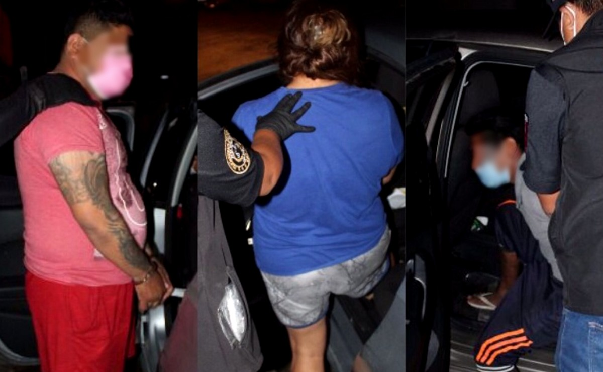 Detienen a dos hombres y una mujer por el delito de narcomenudeo en Mérida