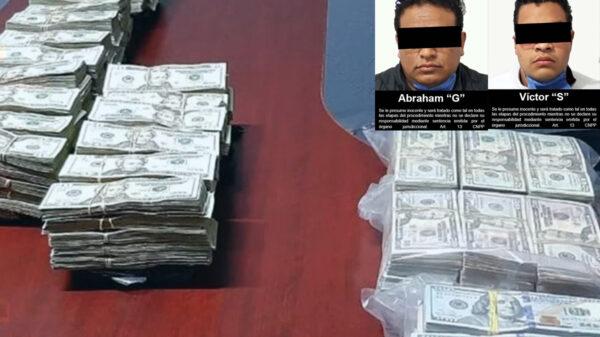 'Cachan' a dos conductores de autobús con 410 mil dólares, en Sonora