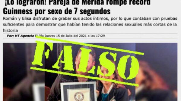 """Pareja de yucatecos desmiente ganar """"Record Guinness"""" por tener la relación sexual más corta de la historia"""