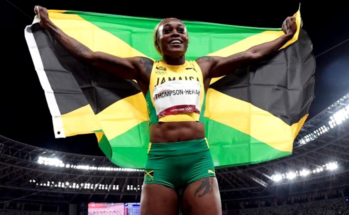 ¡Emocionante! Jamaica se lleva las tres medallas en la carrera femenina de 100 metros