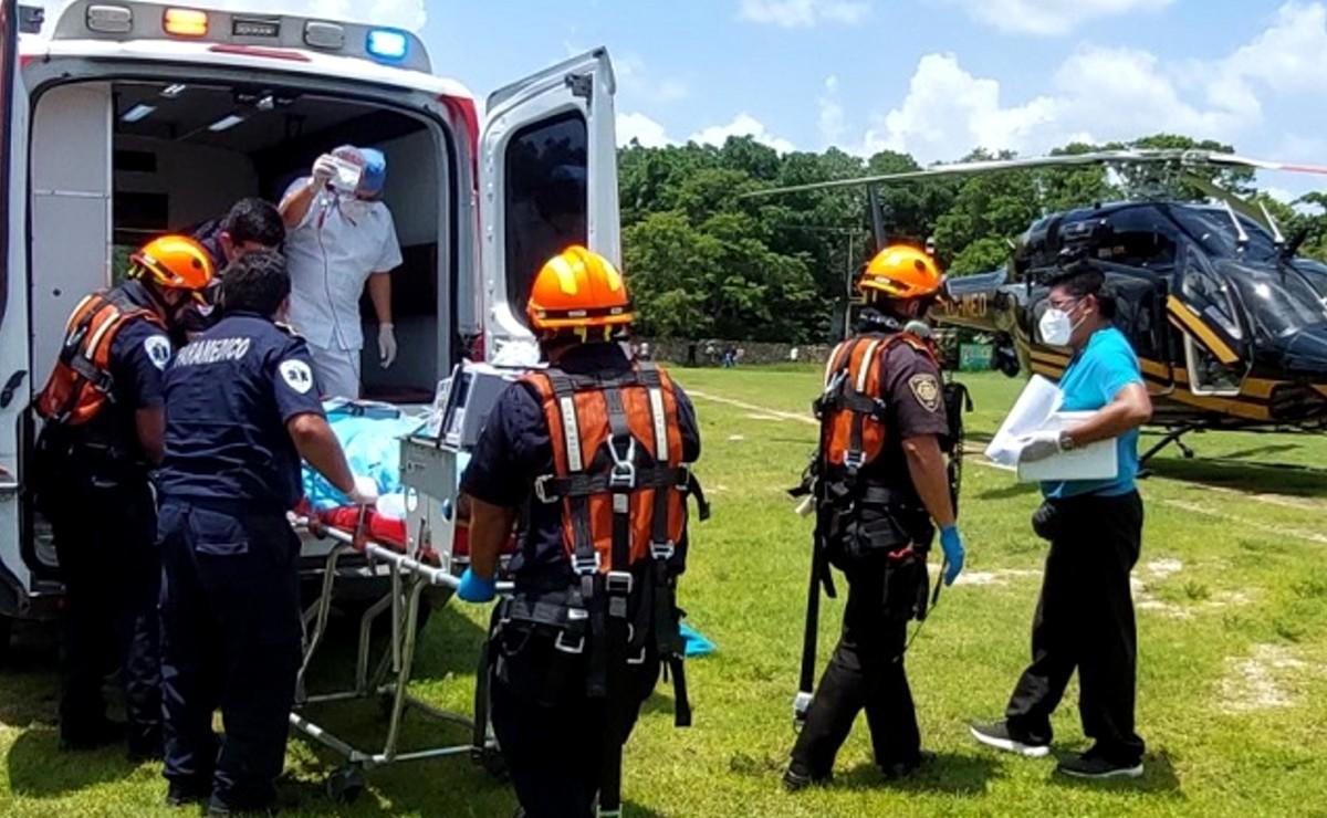 Menor es trasladada de urgencia en helicóptero tras sufrir accidente en la vía Espita-Sucilá