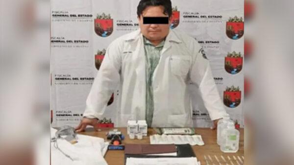 Asegura FGE a médico por aplicar vacunas falsas contra el covid-19