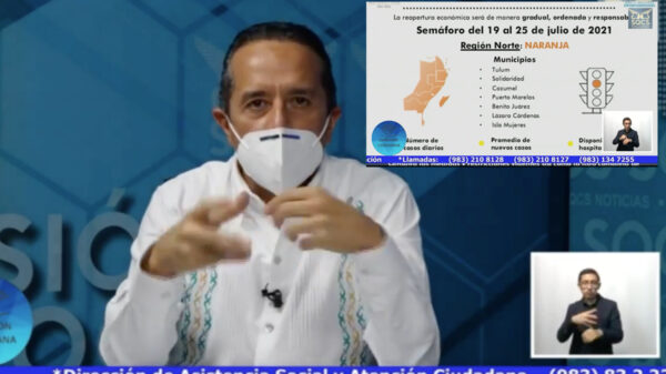 Quintana Roo seguirá en naranja, pero pide gobernador extremar medidas