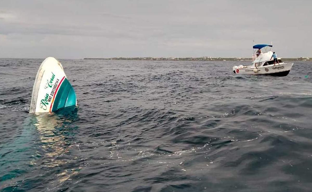 Naufraga lancha con pasajeros en Isla Mujeres, hay tres muertos