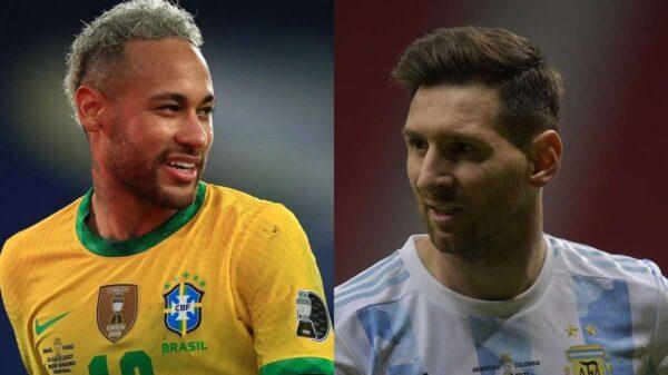 Copa América 2021: Brasil vs Argentina en vivo (horario y transmisión).- Neymar y Lionel Messi se enfrentan en la gran final de la Copa América 2021.