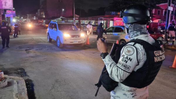 Cancún: Aparatoso operativo en Alfredo V.Bonfil por reporte de balacera
