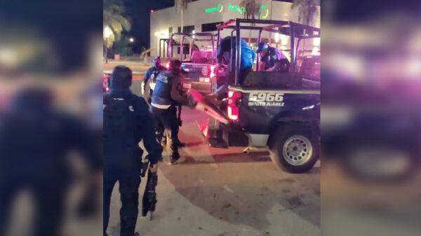 Cancún: Persecución de camioneta deja detención de un hombre armado