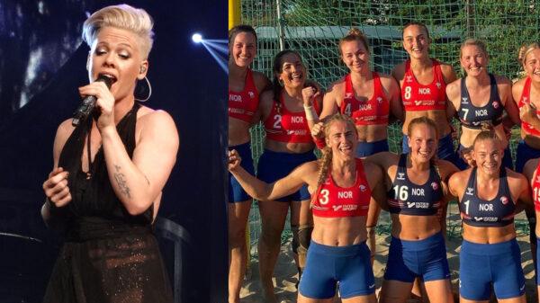 Pink pagará la multa del equipo noruego de handball