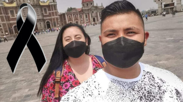 Novia brinda emotiva despedida a policía caído en Yucatán