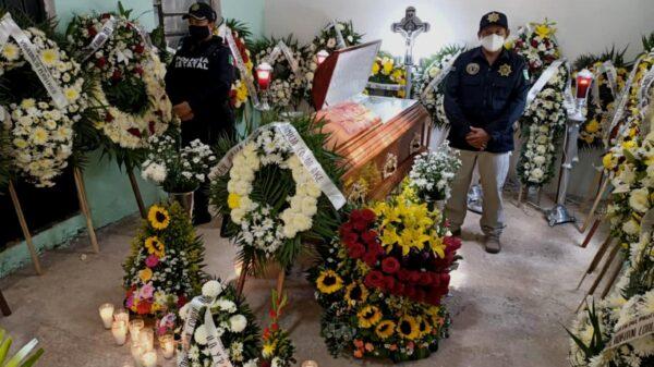 Fotos: SSP Yucatán da último adiós a joven policía asesinado