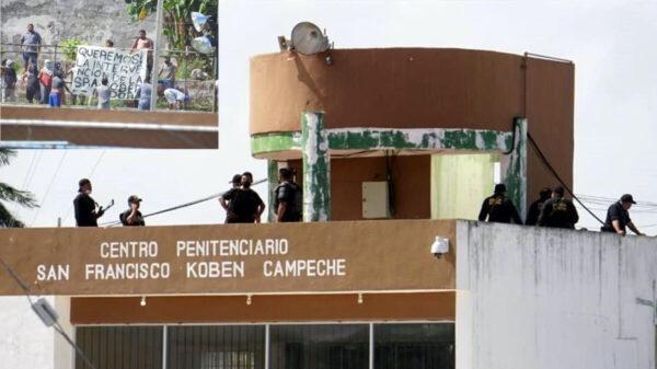 Se amotinan reos en penal de Campeche; hay un muerto y varios heridos
