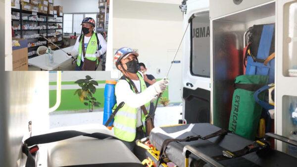 Intensifica gobierno de Puerto Morelos sanitización de oficinas públicas