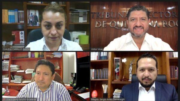 Confirma el pleno del TEQROO resultado de las elecciones en cuatro municipios