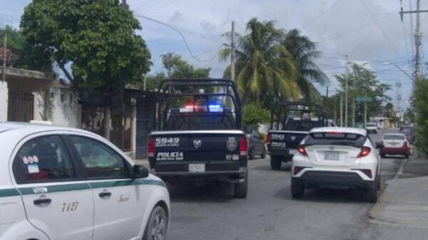 Cancún: Intensa movilización de uniformados tras balacera a taxi