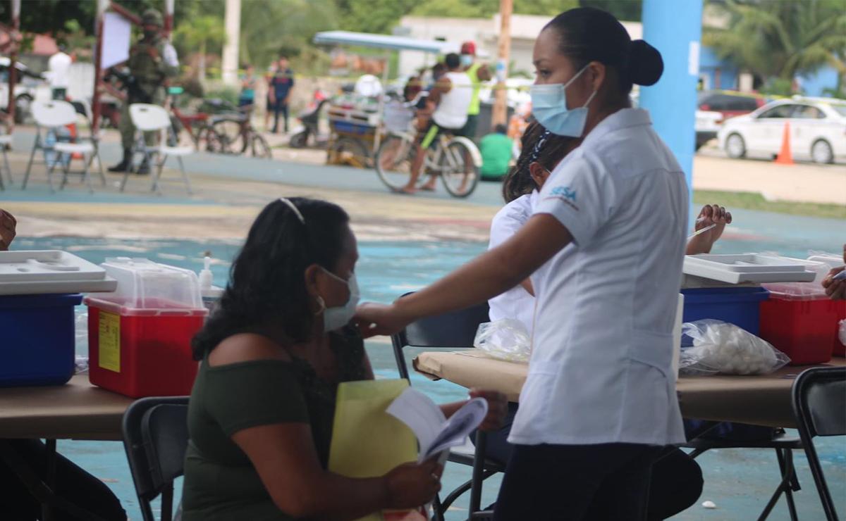 Exitosa jornada de vacunación anti covid en la zona maya