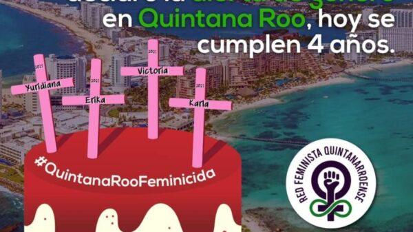 Red Feminista Quintanarroense ve simulaciones por la alerta de género.