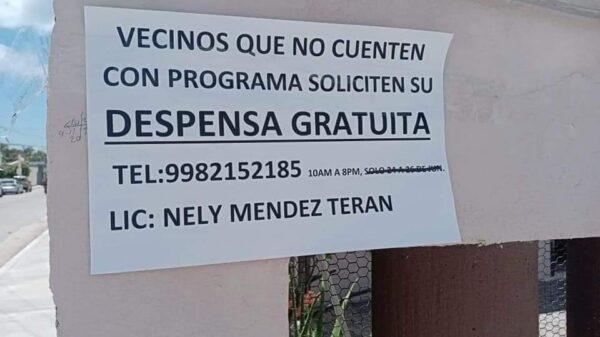 Podría tratarse de un fraude el supuesto apoyo con despensas en Cozumel.