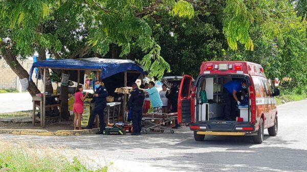 Cancún: Balean a un sujeto en el fraccionamiento La Joya.