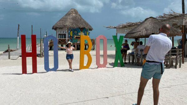 Lucen sin sargazo las playas de la isla de Holbox.