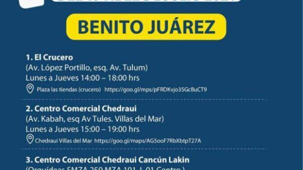 Menos días y módulos de pruebas rápidas de Covid en Cancún.