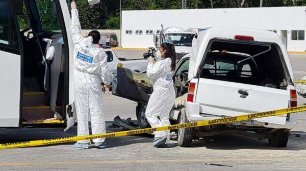 Cancún: Muere conductor en un accidente en el libramiento y la Huayacán (VIDEO).