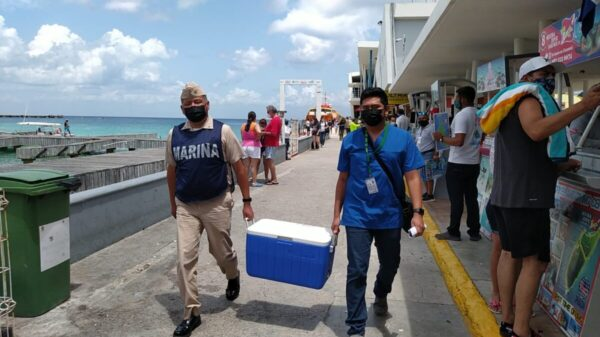 Llegan dos mil 500 vacunas Pfizer más para Cozumel.