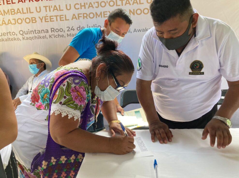Apoyan mayas reforma constitucional sobre derechos de pueblos indígenas y afromexicano.