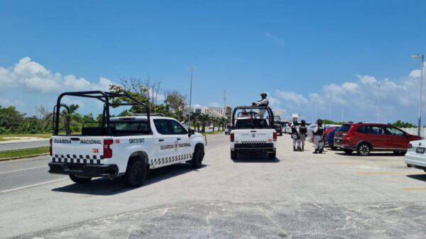 Cancún: Realizan operativo de seguridad en playa Delfines (VIDEO).