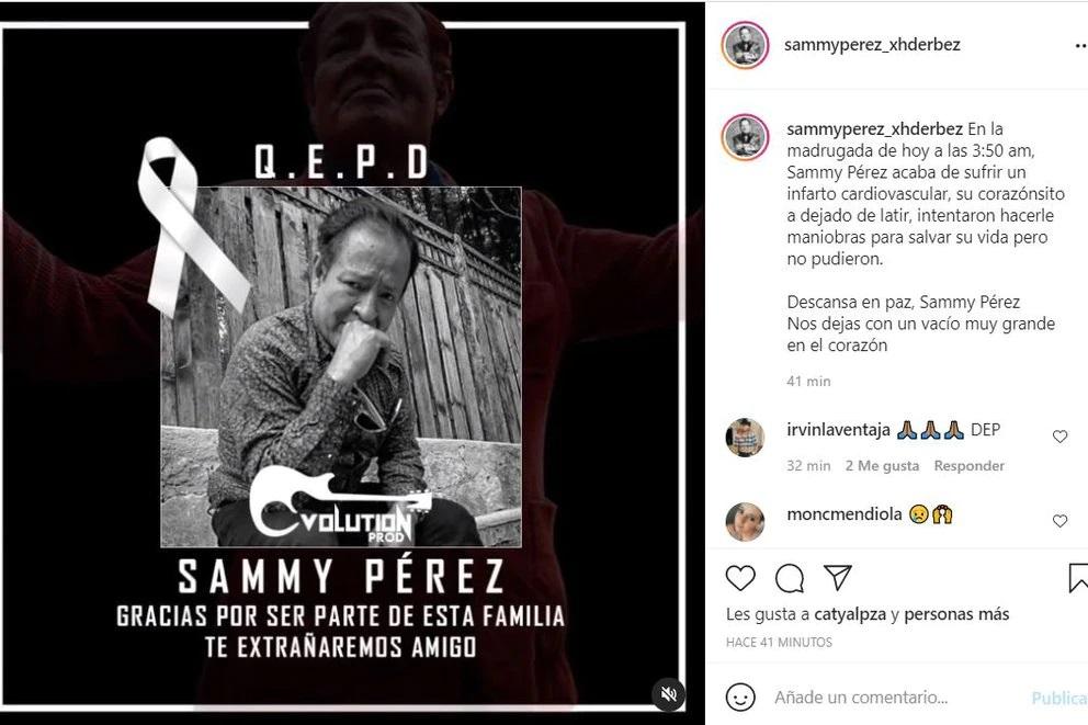 Murió Sammy Pérez a los 65 años tras luchar contra el Covid-19; el actor cobró fama a partir de diversos programas de Eugenio Derbez.