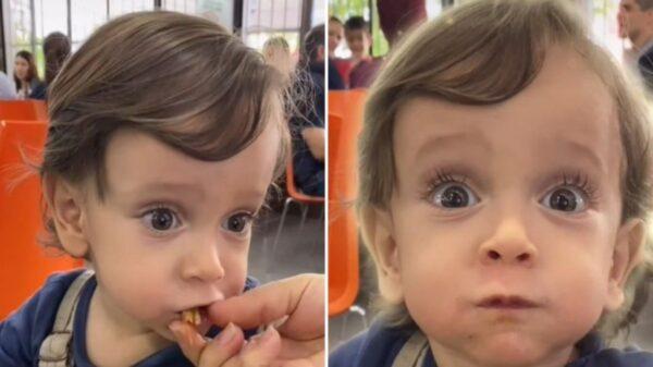 Los tacos son una de las delicias y muestra de ello es la reacción de un bebé al probar por primera vez esta comida de dioses
