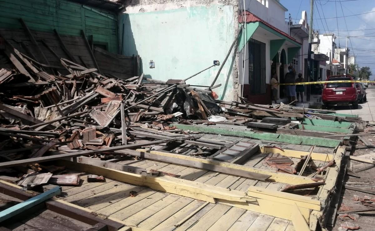 Casa de más de 117 años se derrumba en el Centro de Progreso