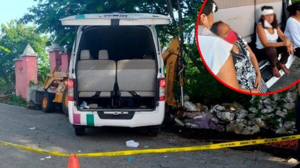 Lesionados y un muerto en choque de ambulancia con retroexcavadora sobre la vía Mérida-Tizimín