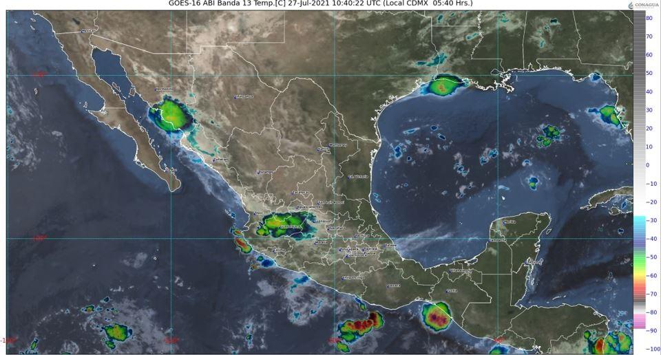 Pronóstico del clima para hoy martes 27 de Julio en Quintana Roo; hay posibilidades de lluvias por la onda tropical 16 sobre la Península.