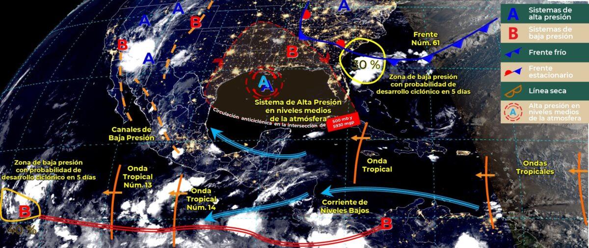Pronóstico del clima para hoy viernes 23 de julio en Quintana Roo.