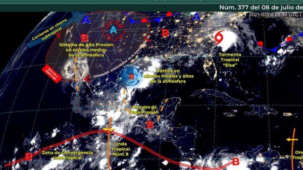 Pronóstico del clima para hoy jueves 8 de julio en Quintana Roo.