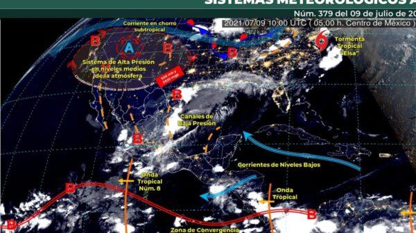 Pronóstico del clima para hoy 9 de julio en Quintana Roo.